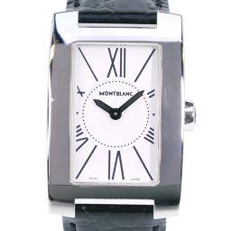 MONTBLANC モンブラン プロファイル 7077 ステンレススチール ブラック クオーツ レディース 白文字盤 腕時計【中古】Aランク