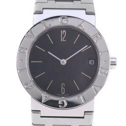 BVLGARI ブルガリ ブルガリブルガリ BB30SSD ステンレススチール シルバー クオーツ ボーイズ 黒文字盤 腕時計【中古】A-ランク