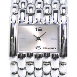Chaumet ショーメ ケイシスXL 42KB-3716 ステンレススチール クオーツ レディース シルバー文字盤 腕時計【中古】A-ランク