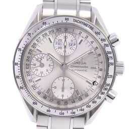 OMEGA Omega Speedmaster Triple Calendar 3523.30 Stainless Steel Self-winding Chronograph Men's Silver Dial Watch [Used] A-Rank