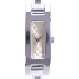 GUCCI グッチ 3900L ステンレススチール シルバー クオーツ レディース ゴールド文字盤 腕時計【中古】A-ランク