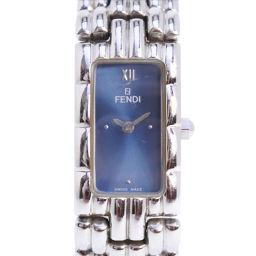 FENDI フェンディ オロロジ 660L ステンレススチール シルバー クオーツ レディース 青文字盤 腕時計【中古】