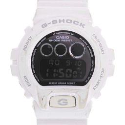 CASIO カシオ G-SHOCK Gショック DW-6900NB ステンレススチール×ラバー ホワイト クオーツ メンズ 黒文字盤 腕時計【中古】