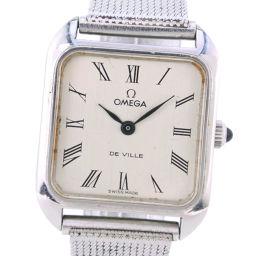 OMEGA オメガ デヴィル デビル ステンレススチール 手巻き レディース シルバー文字盤 腕時計【中古】