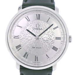 OMEGA オメガ デヴィル/デビル TOOL.104 ステンレススチール×レザー 手巻き レディース シルバー文字盤 腕時計【中古】