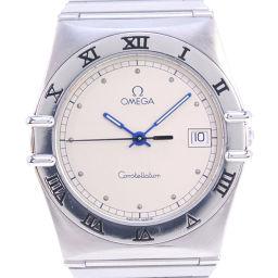 OMEGA オメガ コンステレーション ステンレススチール ブルー クオーツ メンズ シルバー文字盤 腕時計【中古】A-ランク