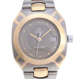 OMEGA オメガ シーマスター ポラリス チタン×K18イエローゴールド ゴールド クオーツ レディース グレー文字盤 腕時計【中古】