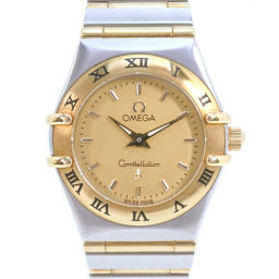 OMEGA オメガ コンステレーションミニ 1262.10 K18イエローゴールド×ステンレススチール シルバー クオーツ レディース ゴールド文字盤 腕時計【中古】Aランク