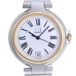 Dunhill ダンヒル ミレニアム ステンレススチール クオーツ メンズ 白文字盤 腕時計【中古】