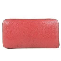HERMES Hermes Azap Long Silk in Vaux Epson Red A Engraved Women's Wallet [Used] B-Rank
