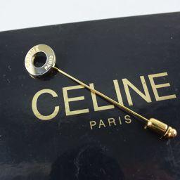 CELINE セリーヌ ピンブローチ モノグラムキャンバス レディース ブローチ【中古】A+ランク