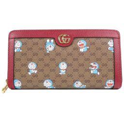 GUCCI Gucci Round Fastener Doraemon 647787 GG Supreme Canvas Men's Long Wallet [Used] S Rank