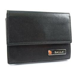 BALLY バリー 名刺入れ カーフ 黒 メンズ カードケース【中古】Aランク