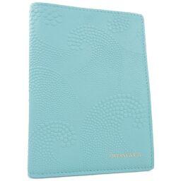 TIFFANY&Co. ティファニー 手帳カバー カーフ ブルー ユニセックス パスポートケース【中古】Sランク