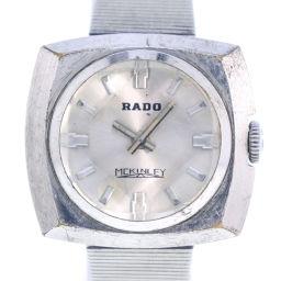 RADO ラドー マッキンリー MCKINLEY ステンレススチール 手巻き レディース シルバー文字盤 腕時計【中古】