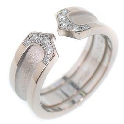 CARTIER カルティエ C2リング/2Cリング ダイヤモンド K18ホワイトゴールド 9.5号 レディース リング・指輪【中古】SAランク