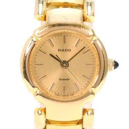 RADO ラドー ブレスウォッチ 205.9511.2 ステンレススチール クオーツ レディース ゴールド文字盤 腕時計【中古】A-ランク