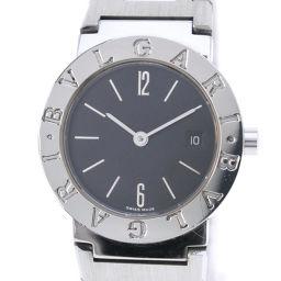 BVLGARI ブルガリ ブルガリブルガリ BB26SSD ステンレススチール シルバー クオーツ レディース 黒文字盤 腕時計【中古】Aランク