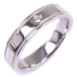 TIFFANY&Co. ティファニー ミルグレイン ダイヤモンド Pt950プラチナ 6.5号 レディース リング・指輪【中古】SAランク