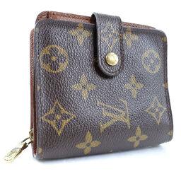 LOUIS VUITTON ルイ・ヴィトン コンパクトジップ M61667 モノグラムキャンバス 茶 メンズ 二つ折り財布【中古】