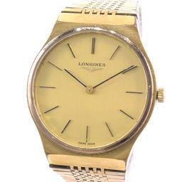 LONGINES ロンジン ステンレススチール 手巻き メンズ ゴールド文字盤 腕時計【中古】