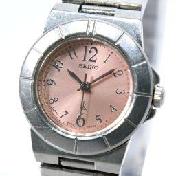 SEIKO セイコー ルキア 4N21-1130 ステンレススチール シルバー クオーツ レディース ピンク文字盤 腕時計【中古】