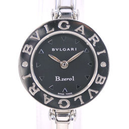 BVLGARI ブルガリ ブルガリブルガリ BZ22S ステンレススチール シルバー クオーツ レディース 黒文字盤 腕時計【中古】