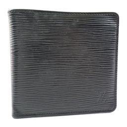LOUIS VUITTON ルイ・ヴィトン ポルトフォイユ・マルコ M63652 エピレザー ノワール 黒 メンズ 二つ折り財布【中古】