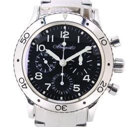 Breguet Breguet Aeronaval 3800 Stainless Steel Silver Automatic Men's Black Dial Watch [Pre] A-rank