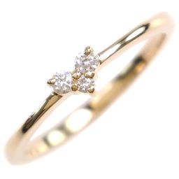 ete ete heart K18 yellow gold × diamond No. 11 0.07 engraving Ladies ring / ring [used] SA rank