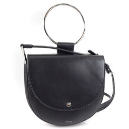 theory Shiny WHITNEY H05AC018 calf black ladies shoulder bag [pre-owned] A + rank