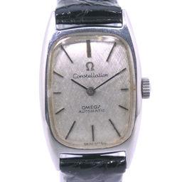 OMEGA オメガ コンテレーション ステンレススチール ブラック 自動巻き レディース シルバー文字盤 腕時計【中古】