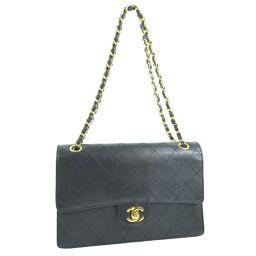 CHANEL Vintage Chain Shoulder Matrasse 25 Matte Caviar Skin Black Women's Shoulder Bag [Used]
