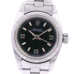 ROLEX Rolex Oyster Perpetual U No. 67230 Stainless Steel Self-winding Analog Display Ladies Black Dial Wrist Watch [Used] A-Rank