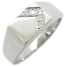 印台 26.5号 Pt900プラチナ×ダイヤモンド 26号 D0.12刻印 メンズ リング・指輪【中古】A+ランク