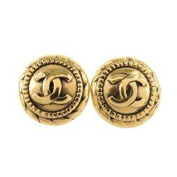 CHANEL Coco Mark Vintage GP Ladies Earrings [Used] A rank