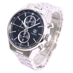 TAG HEUER TAG Heuer Carrera cal.1887 back scale CAR2110.BA0724 stainless steel black self-winding chronograph men's black dial watch [used] A rank