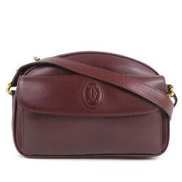 CARTIER Cartier Calf Women's Shoulder Bag [Used] A-Rank