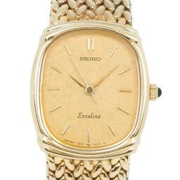 SEIKO セイコー エクセリーヌ 1221-5890 ステンレススチール ゴールド クオーツ レディース ゴールド文字盤 腕時計【中古】