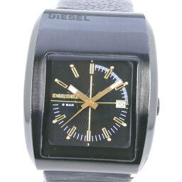 DIESEL Diesel DZ-1194 Stainless Steel × Leather Black Quartz Men's Black Dial Watch [Used] B-Rank