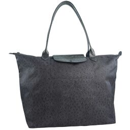 Longchamp ロンシャン ナイロン×レザー ブラウン レディース ハンドバッグ【中古】
