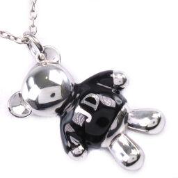 Justin Davis Teddy Bear Bear Motif Silver 925 Unisex Necklace [Used] SA Rank