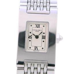 Chaumet Chaumet Style Rectangle Stainless Steel Quartz Ladies Silver Dial Watch [Used] A-Rank