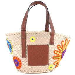 LOEWE LOEWE Basket Sunflower Beige Ladies Handbag [Used] SA Rank
