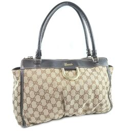 GUCCI Gucci 189831 GG canvas brown ladies tote bag [used]