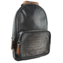 Berluti Berluti Calf Black Black Unisex Backpack Daypack [Used] A-Rank