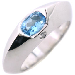 PIAGET Piaget 18k White Gold x Blue Topaz x Diamond No. 10 Ladies Ring / Ring [Used] SA Rank