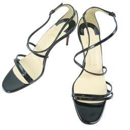 Christian Louboutin Christian Louboutin Sandals Enamel Black Ladies Mule [Used] A + Rank