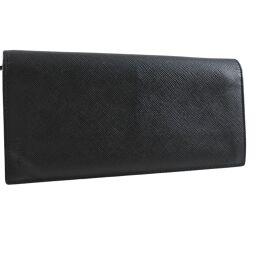 PRADA Prada x Saffiano NERO Black Unisex Wallet [Used]