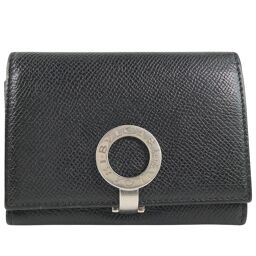 BVLGARI Bvlgari Bvlgari Business Card Holder Calf Black Men's Card Case [Used]